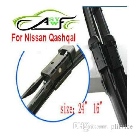 """Free shipping car wiper blade for Nissan Qashqai Size 24"""" 16"""" Dovetail connector Soft Rubber WindShield Wiper Blade 2pcs/PAIR"""