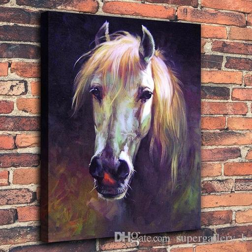 Modern Abstract Animal Hand-painted Oil painting Horse On Canvas Home Decor Wall Art Multi sizes /Frame Option a138