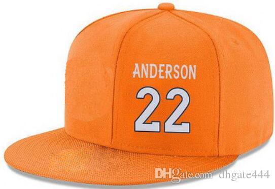 Snapback шляпы пользовательские любой игрок имя номер #22 Андерсон #95 Вулф индивидуальные все команды шапки принять на заказ плоский вышивка логотип или имя