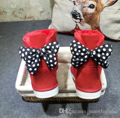 Free shipping 2018 high quality Australia WGG New Mickey classic tall winter boots real leather Bowknot women's snow boots shoes