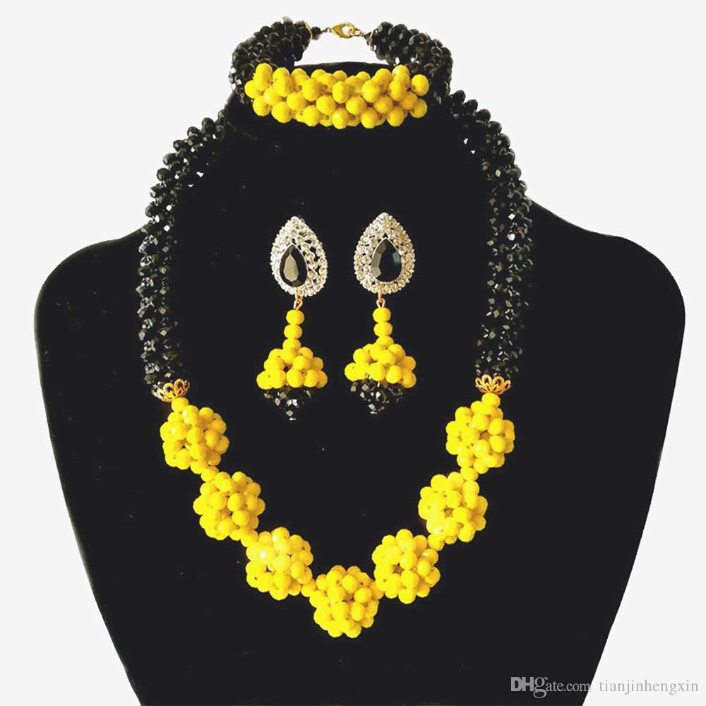 Dernier Du Sud Indien Traditionnel Américain Diamant Noir Ras Collier Boucles