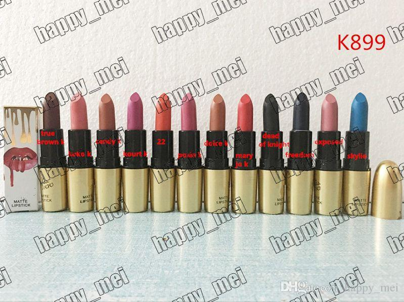 Envío Gratis ePacket Nuevo Maquillaje Labial K899 XoXo Matte Lipstick! 3.5g