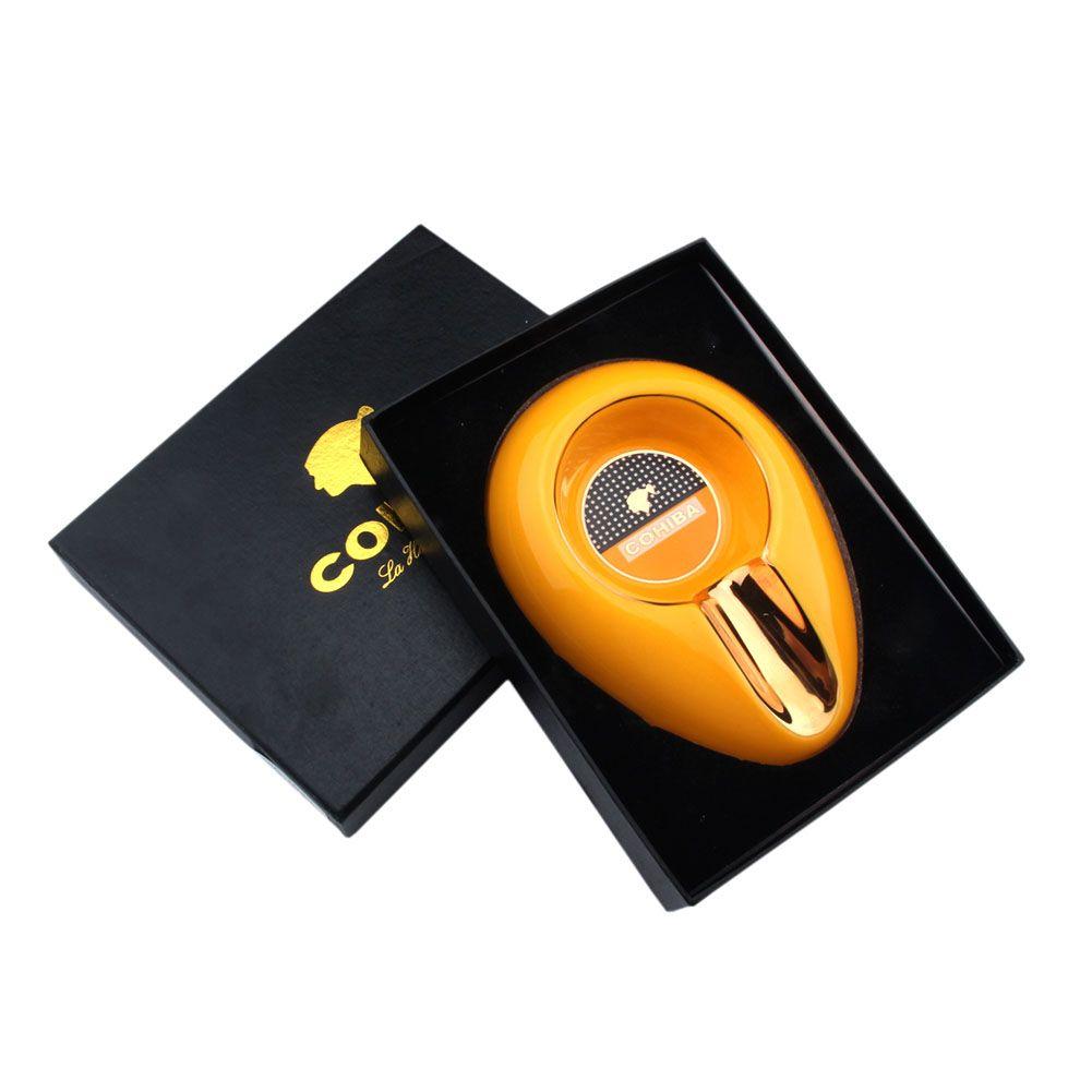 Nouvelle arrivée COHIBA bonne bijoux de qualité à l'extérieur a une forme cuillère à l'intérieur des accessoires de cigare cendrier cigare outil
