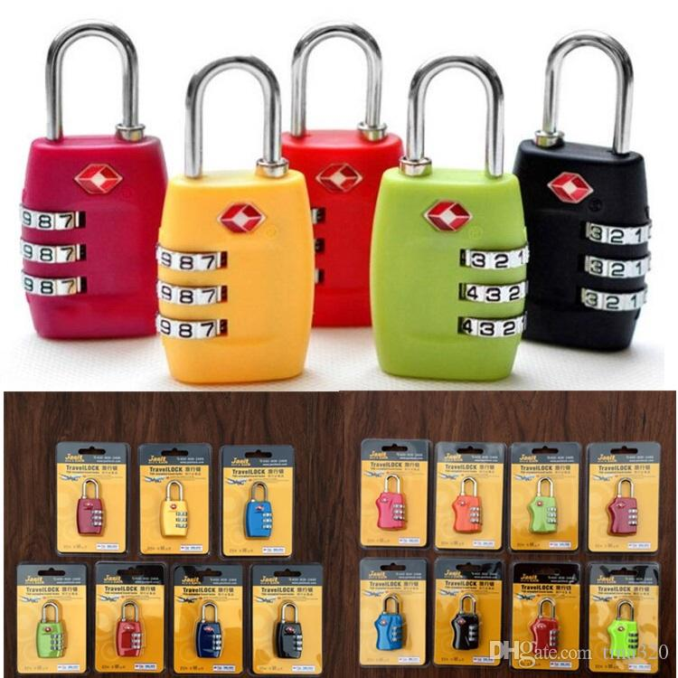 TSA Travel bags lock Digit Plastic Alloy Lock Password Customs Luggage Padlock Combination Suitcase Padlock Luggage Travel Lock CB160