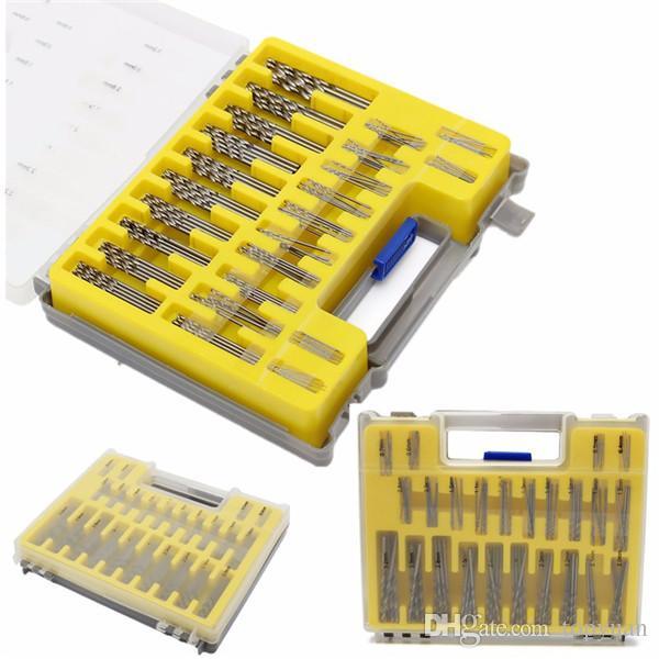 150pcs 0.4mm-3.175mm Micro Twist Drills Bit Set Rotary Tool Grinder Accessory