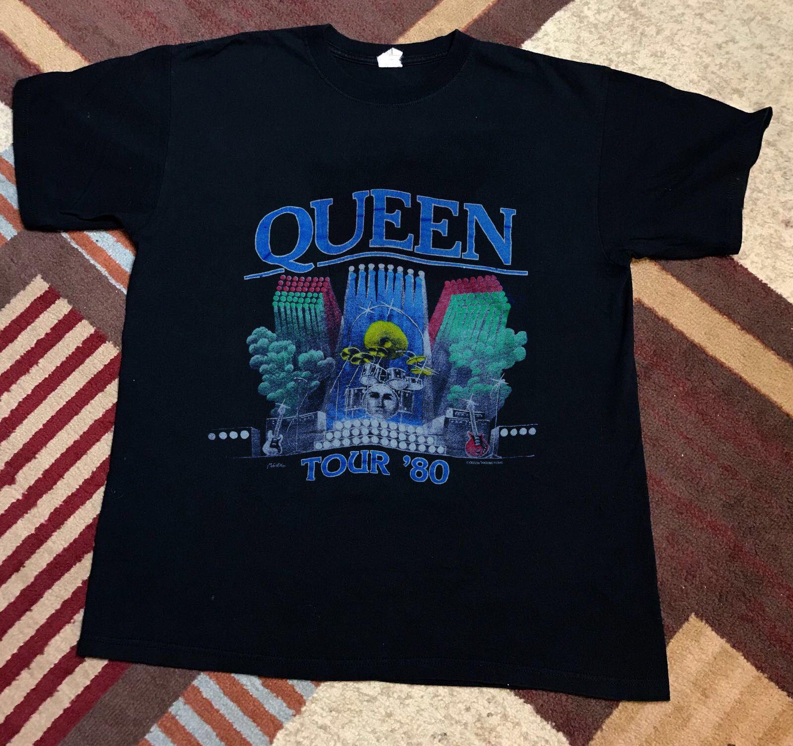 Queen Shirt Vintage Tshirt 1980 The Game Tour Rock Band Freddie Top Tee  REPRINT Make T Shirts Shirt Designs From Breadshirt, $10.49