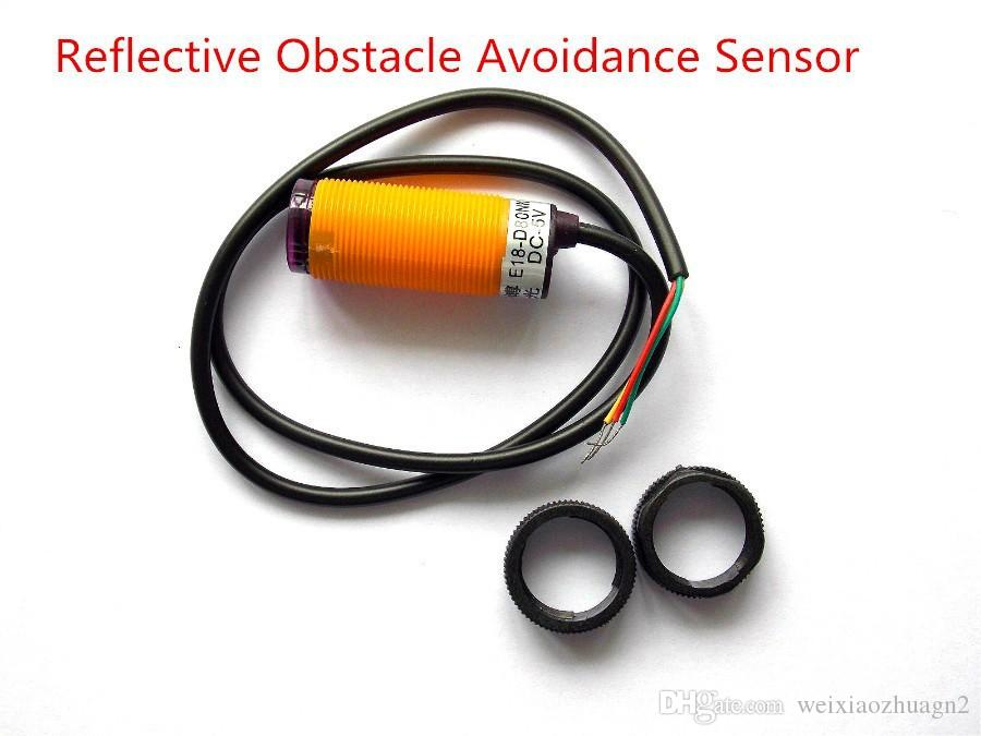 E18-D80NK fotoelektrik anahtarı Işık sensörü Kızılötesi engellerden kaçınma dağınık yansıma sensörü 5 V normalde açık 80 cm ayarlanabilir