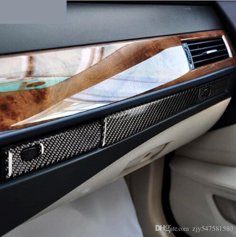 3DCar Styling Accessoires pour BMW E60 Carbon Fiber Co-pilote tasse d'eau Porte-garniture bande intérieure autocollant de voiture 5 série 2004-2010