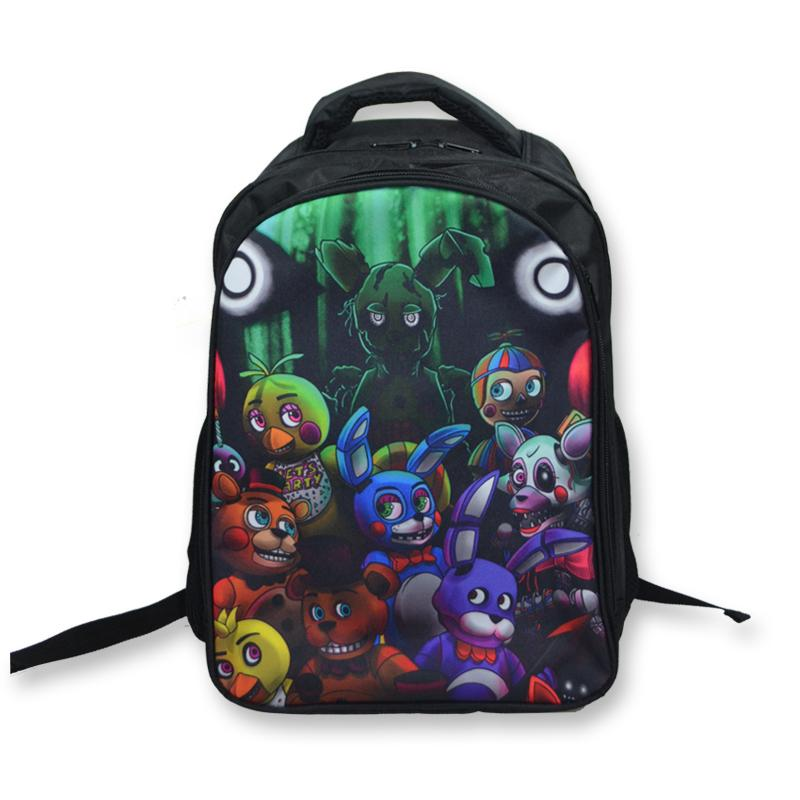 FNAF Five Nights At Freddy/'s Character Backpack School Shoulder Bag Kids Boys