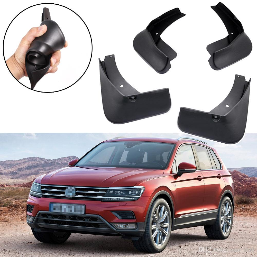 Nuevo 4 unids Car Mud Flaps Guardabarros guardabarros Fender ajuste para Volkswagen Tiguan Allspace 2018 UP