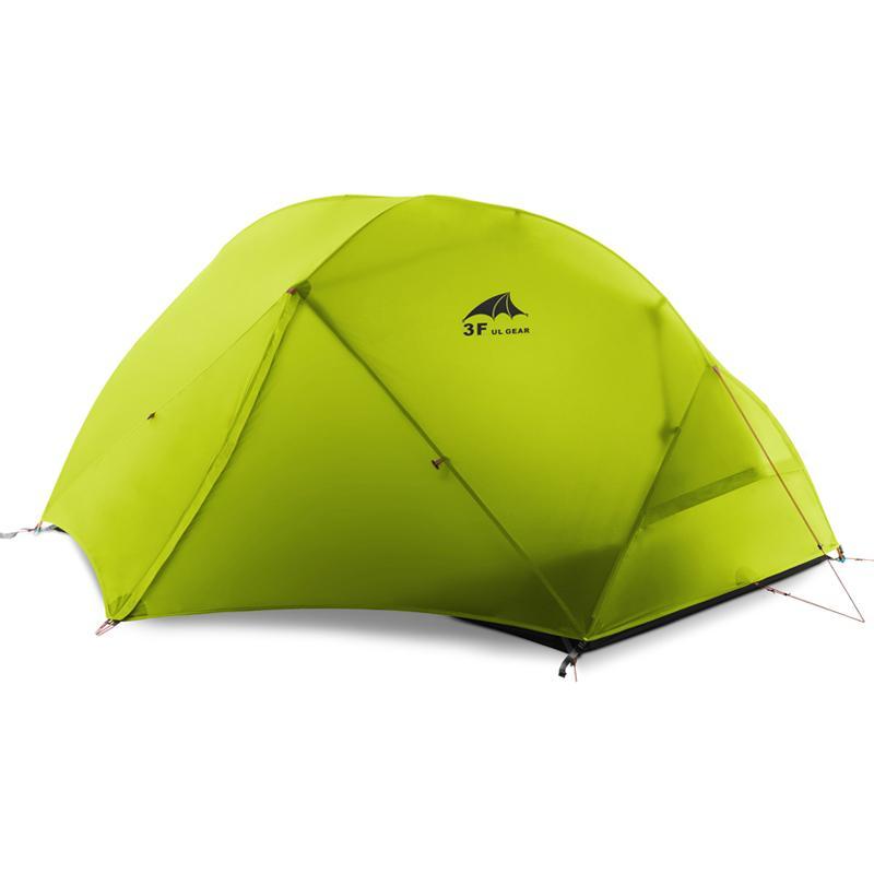 3F UL Gear 2 Persona Tenda da campeggio 210T / 15D Tessuto in silicone Tessuto a doppio strato leggero