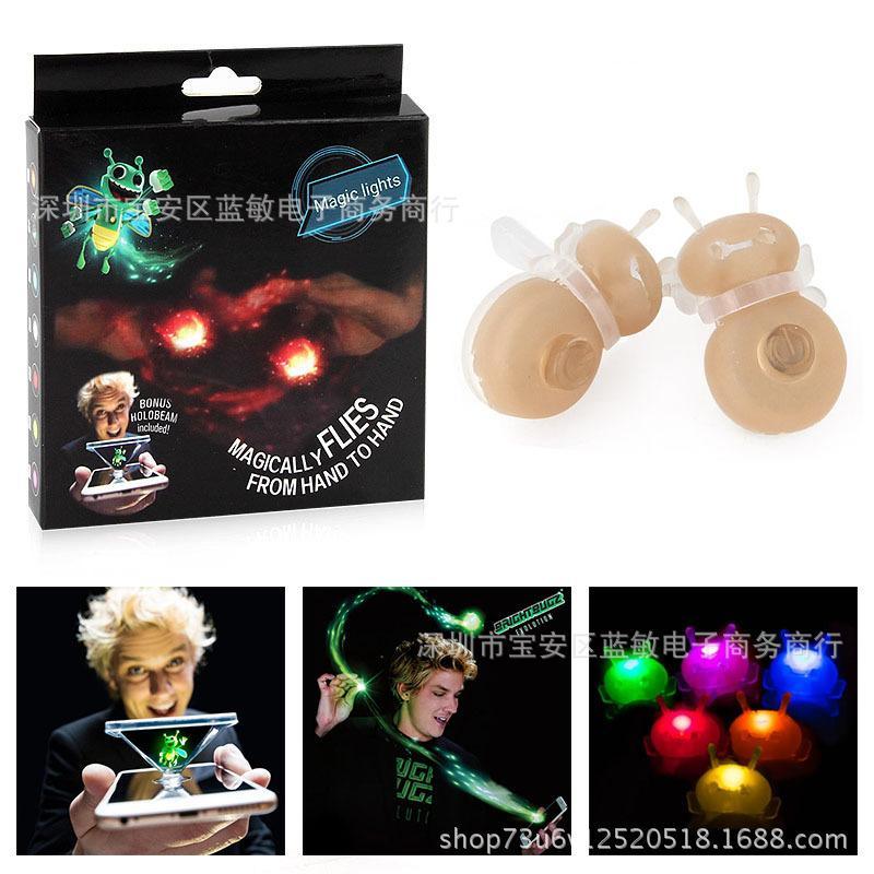 3D Holographic Mobile Phone Projection Magic Bee Fluorescent Light Finger LED Hologram Light Magic Finger Prop Light Novelty Toy