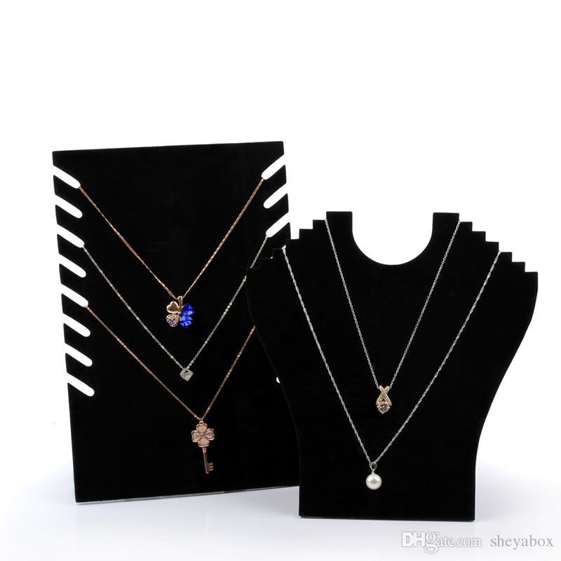 1x Velvet Necklace Chain Pendant Show Display Jewellery Organizer Holder Chic OQ