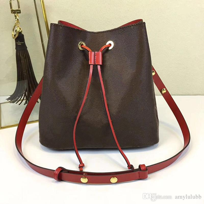 Оптовые новые Drawstring для женщин кожи моды плечя сумки классического тотализатора для леди сумки дальнозоркости хозяйственной сумки кошелек сумки