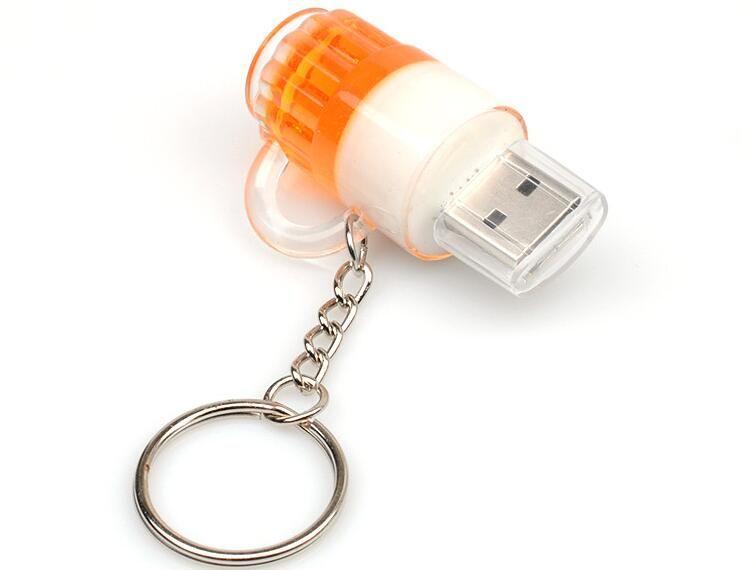 새로운 도착 맥주 컵 32 기가 바이트 64 기가 바이트 128 기가 바이트 USB2.0의 USB 플래시 드라이브 / pendrive / 플래시 메모리 소매 패키지 무료 배송