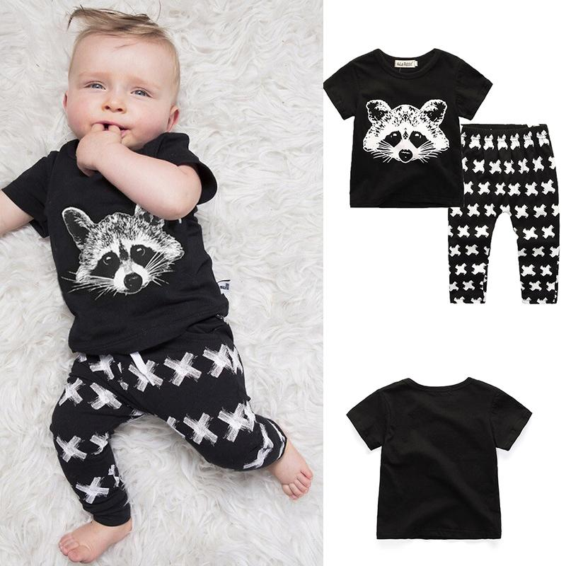 Летние комплекты детской одежды мальчик футболка + брюки костюм комплект одежды Ткань новорожденный спортивные костюмы детская одежда для мальчиков детская одежда для девочек