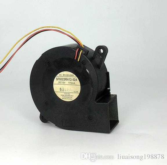 SF6023RH12-52A 서버 송풍기 팬 DC 12V 170mA, 60x60x25mm 3 선 3 핀 프로젝터 TDP-EX20U 팬