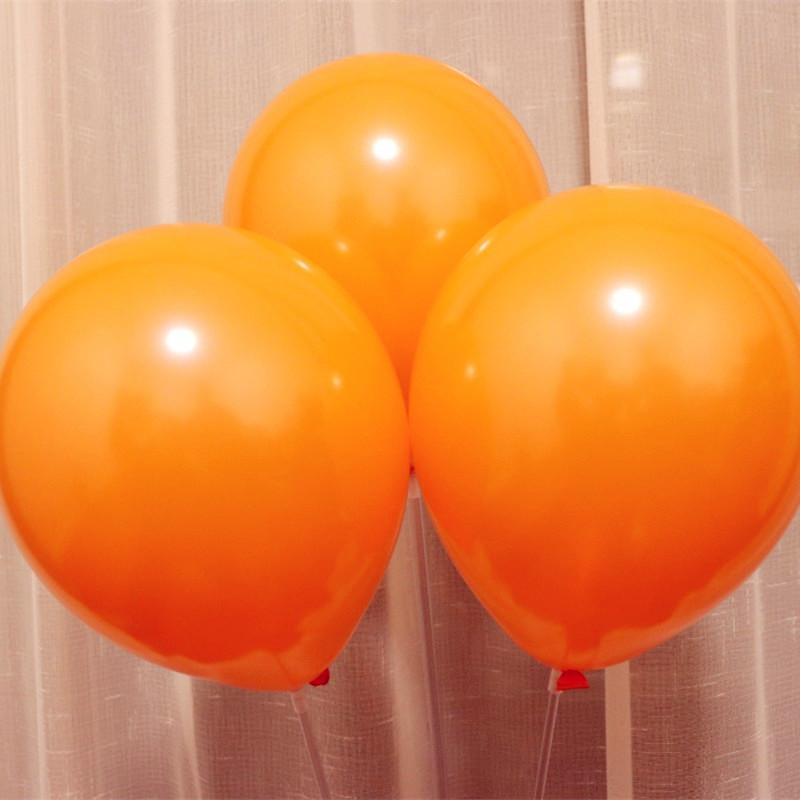 Halloween balloon 100pcs/lot10 inch 1.5g pearl orange ballons baby birthday party balloons wedding supplies kids toys wholesale