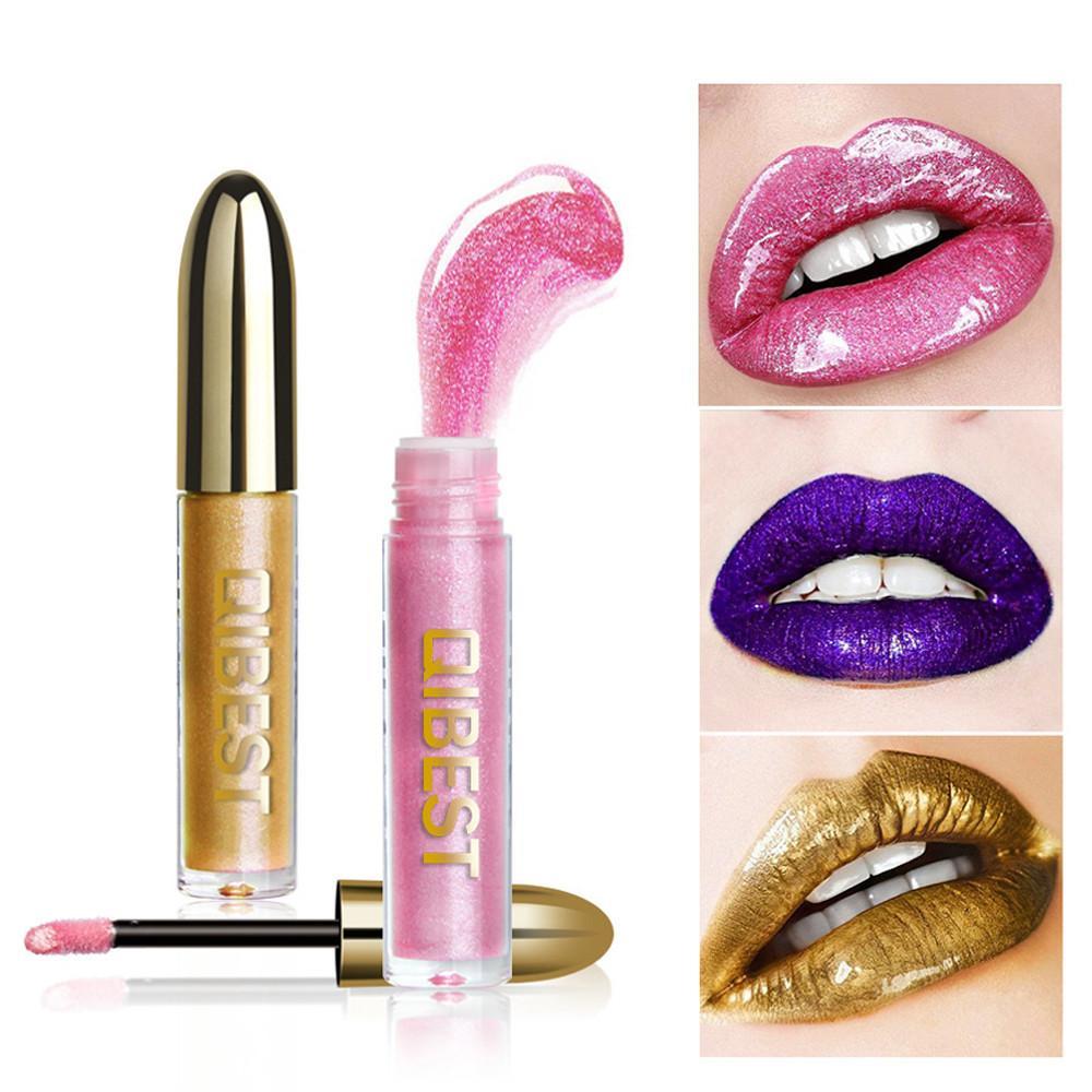 DropShip Damenmode Glitter Flip Metallic Matte Flüssigen Lippenstift Candy Shiny Lipgloss 12 Farben Flüssiger Lipgloss Type2 23