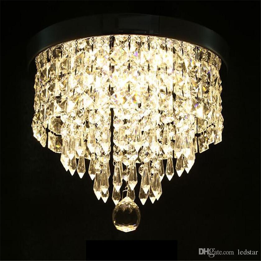 Candelabro moderno Luz de techo Bola de cristal Accesorio Lámpara de techo colgante Pasillo Porche Lámpara Dormitorio Sala de estar Techo Balcón Luces