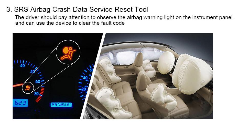 Automotive Diagnostic tool Car Scanner Diagnosis OBD2 Airbag ABS SAS SRS_06