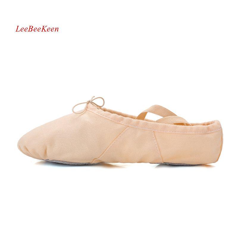 Girls Canvas Ballet Practice Dance Shoes Ballerina Children Dance Gym Slipper Adult Ballet Shoes Pink Sneakers Split Sole