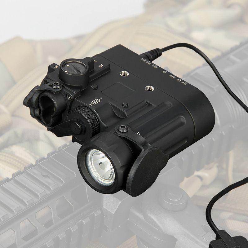Torcia tattica da caccia Torcia tattica DBAL-D2 Dual Beam Dal Awing Laser Green W / IR LED Illuminator Classe 1 CL15-0074
