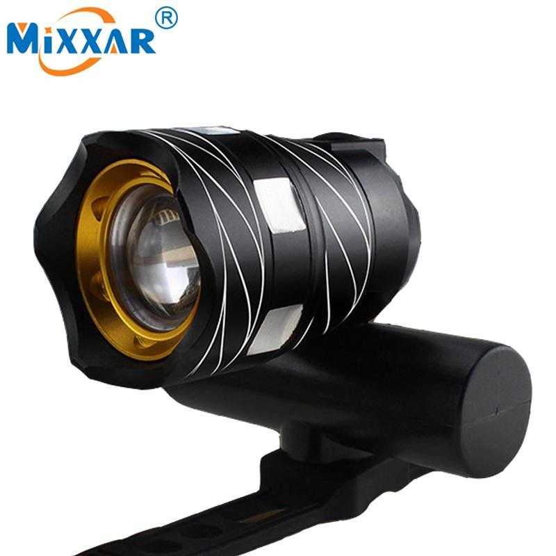 ZK20 Outdoor Zoomable CREE XML T6 LED Bicycle Light Bike Front Lamp Torch Headlight USB Rechargeable Built-in Battery 15000LM