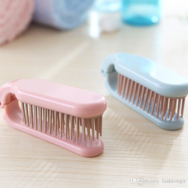 300 pz prezzo a buon mercato 2 colori misti Professionale portatile pieghevole anti-statica massaggio denso dente pettine Parrucchiere spazzola Spedizione gratuita