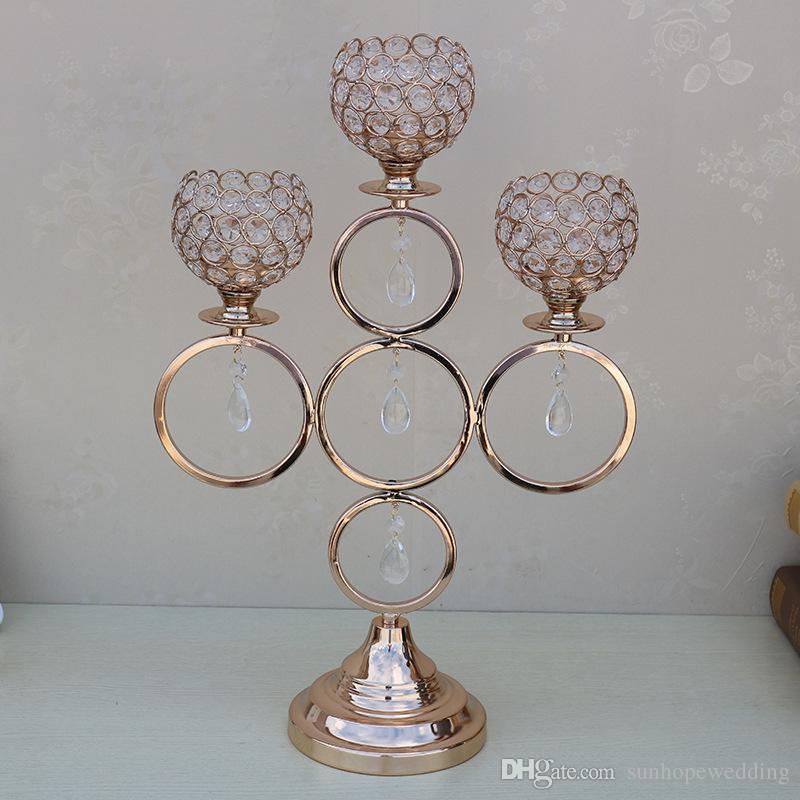 novo estilo para a decoração do casamento candelabros de prata / ouro alto