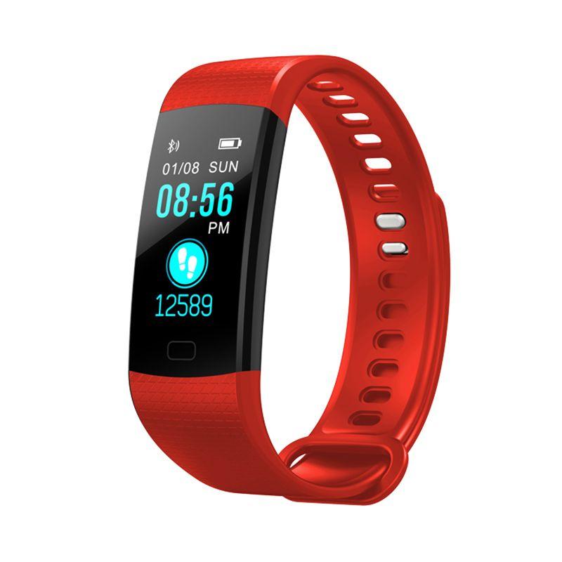 Inseguitore impermeabile attività cardiaca sonno Contapassi Sport astuto dello schermo di polsino del braccialetto del Y5 Fitness Tracker colori per Smart Phone
