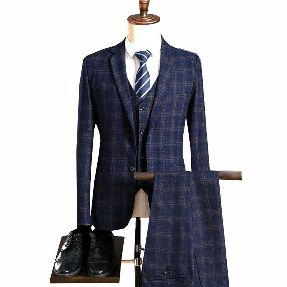 JinXuanYa Mens Slim Fit Suit One Button 3 Pieces Suits Blazer Custom Color