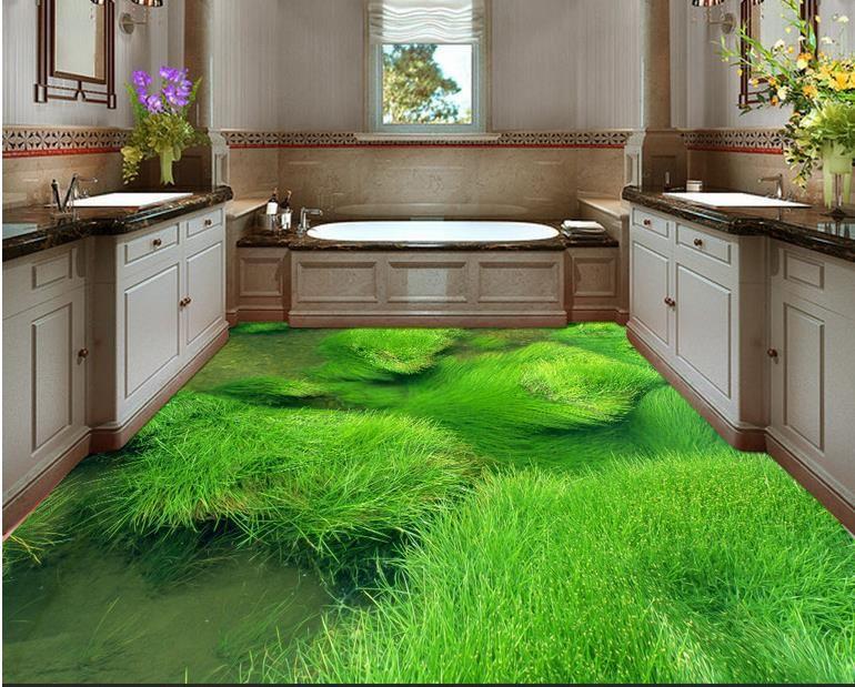 vinyl flooring adhesives Grass floor decorative painting PVC Self-adhesive Floor