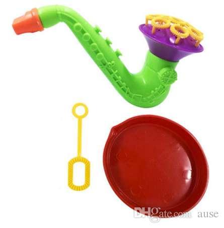 1 unids juguetes que soplan burbuja burbuja burbuja de jabón sin ventilador líquido al aire libre niños juguetes para niños nueva máquina de la boda creativa polyporous al azar