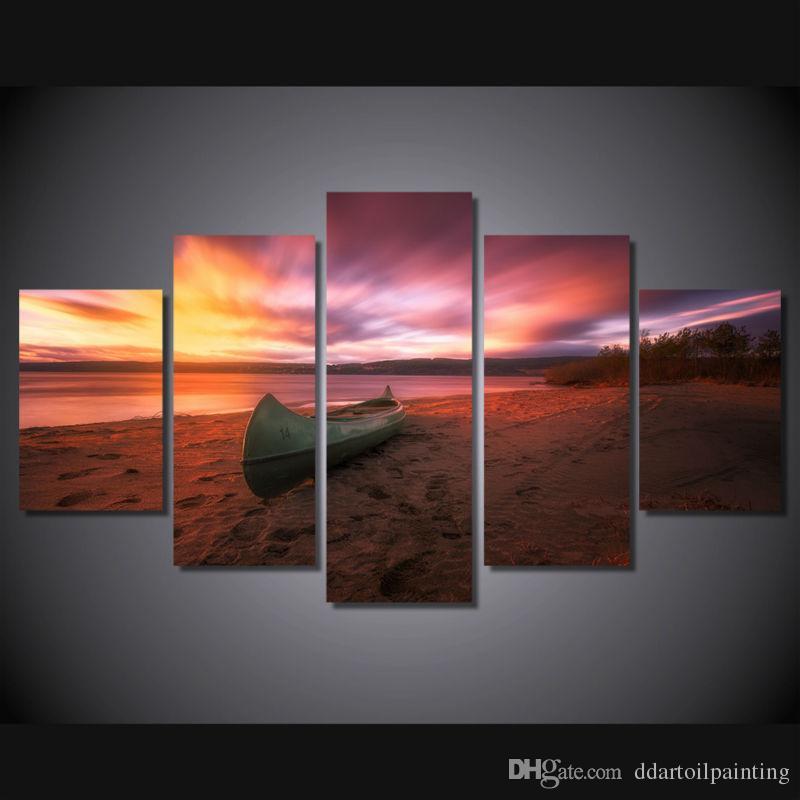 LARGE 5Panels Sea Beach Seascape Landscape Picture Poster Giclee Canvas Prints Home Hotel Decor interior (No Frame)