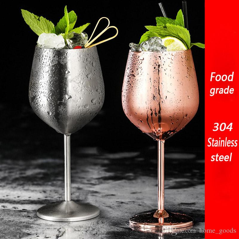 17oz Stainless Steel Goblet wine glass tumbler Martini Champagne Cocktail Hanap wine glasses Beer Drink Cups for wedding birthday party Bar