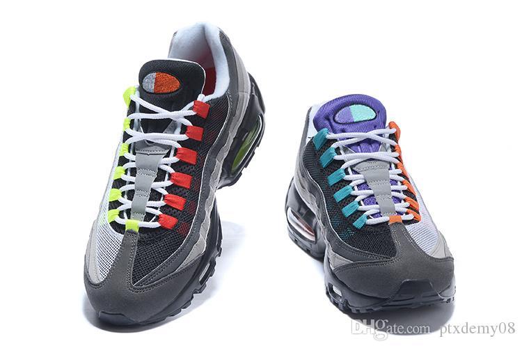 NIKE Air Max 95 2018 Nouveau Mode Shox 808 Oz Kpu Course à Pied Hommes Chaussures 95 Chaussure Homme Extérieur Trainer Designer Chaussures Sport Baskets Taille 40-46 Us7-12
