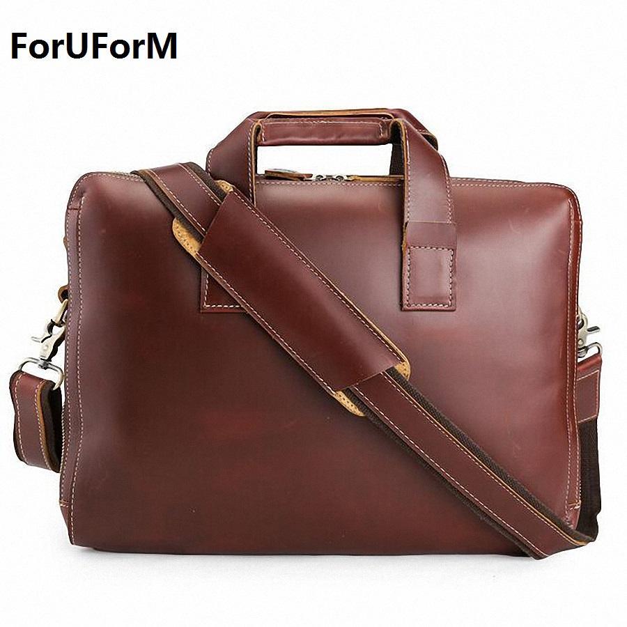 Briefcases Genuine Pelle Pelle Business Briefcase da 15.4 pollici Borsa per laptop Borsa a tracolla Borsa a tracolla TOTE LI-1520