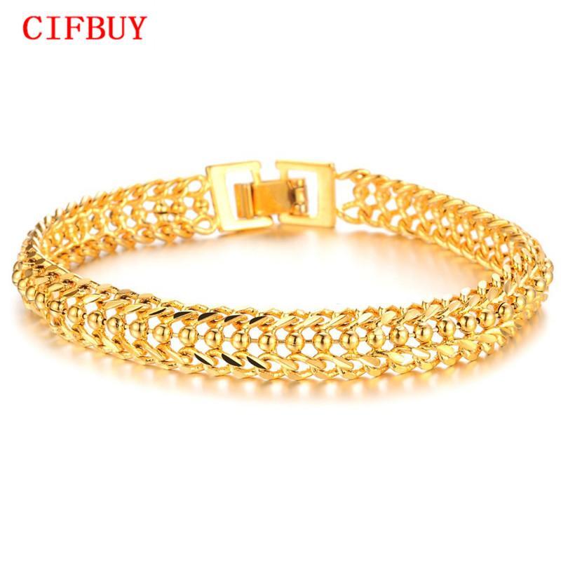 CIFBUY Bracelets Bracelets 2016 Nouveau Design Femmes De Mariage Bracelet De Luxe Plaque D'or Femmes Bracelet De Mode Bijoux KS424