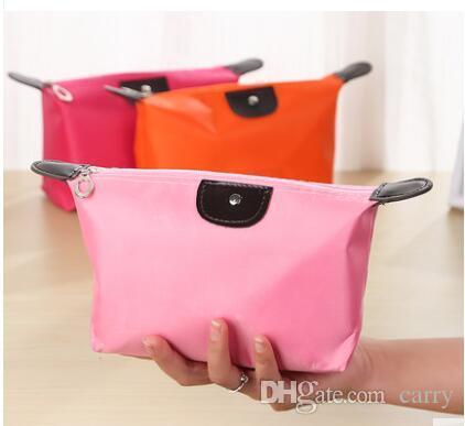 حار بيع جيدة كوليتي سيدة حقيبة مستحضرات التجميل الصغيرة الزلابية ماء تخزين حقيبة غسل حقيبة مخلب محفظة