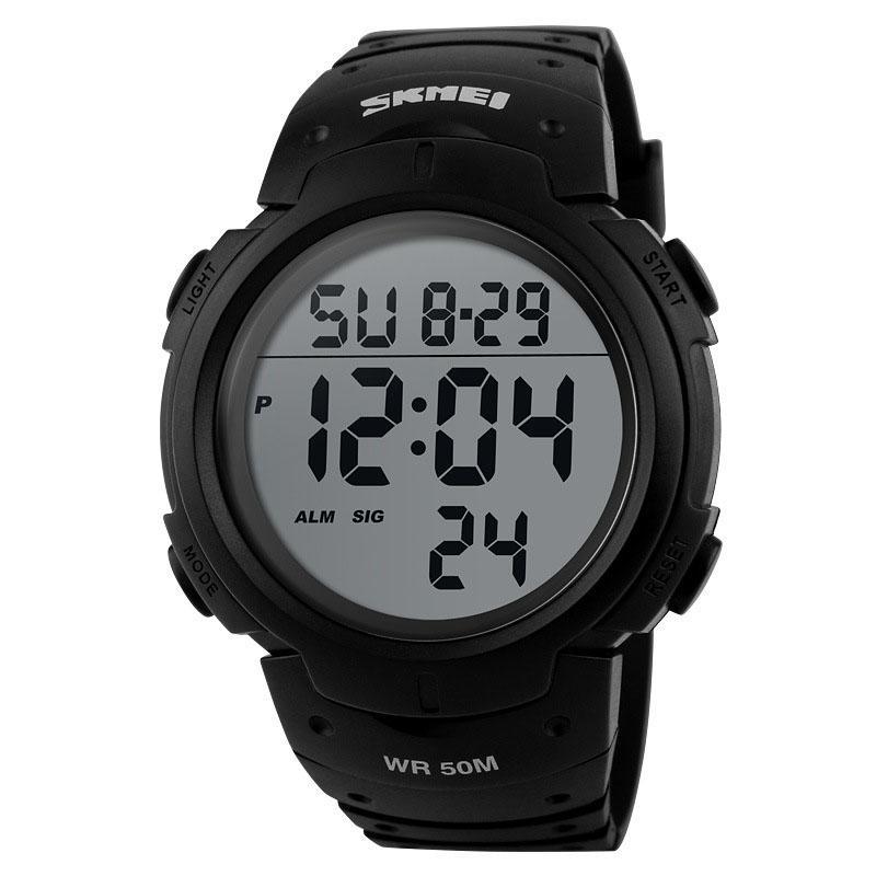 wengle новый Skmei многофункциональный цифровые часы световой водонепроницаемый спорта на открытом воздухе Run LED будильник календарь хронограф часы