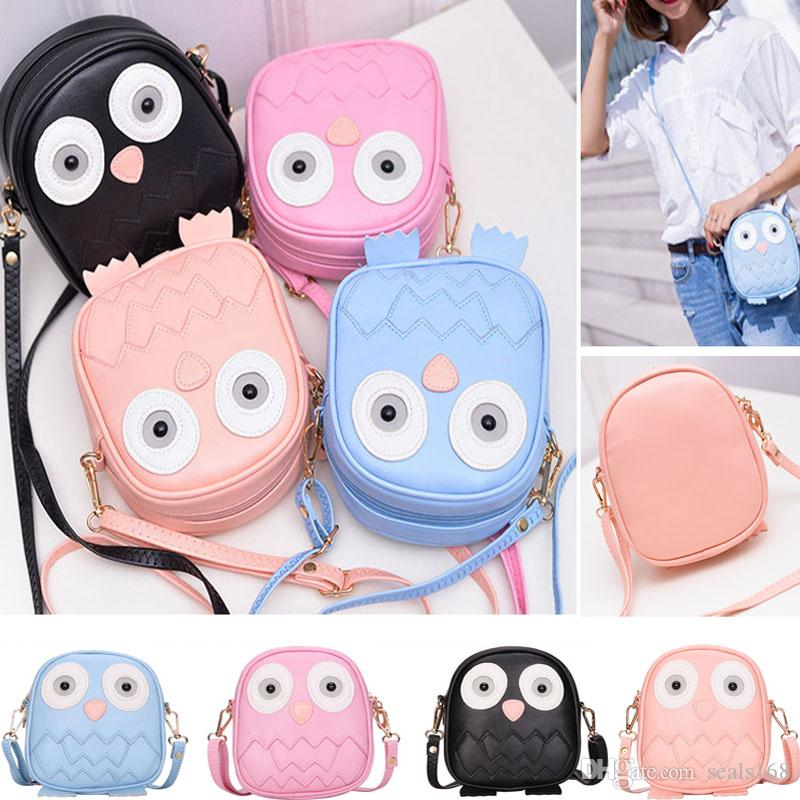 Mini Owl Purse Handbag Children Lady Messenger Bags For Crossbody Shoulder Bag With Belt Strap Clutch Purses Storage Bag Xmas Gift HH7-1502