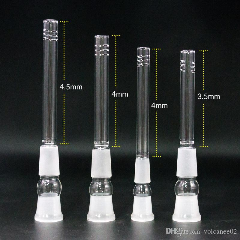 Adaptador do downstem do vidro do narguillahs masculino-feminino 14mm 18mm junto descendo o difusor dos plataforos do óleo do tubo da haste para tubulações dos bongos da água de fumo