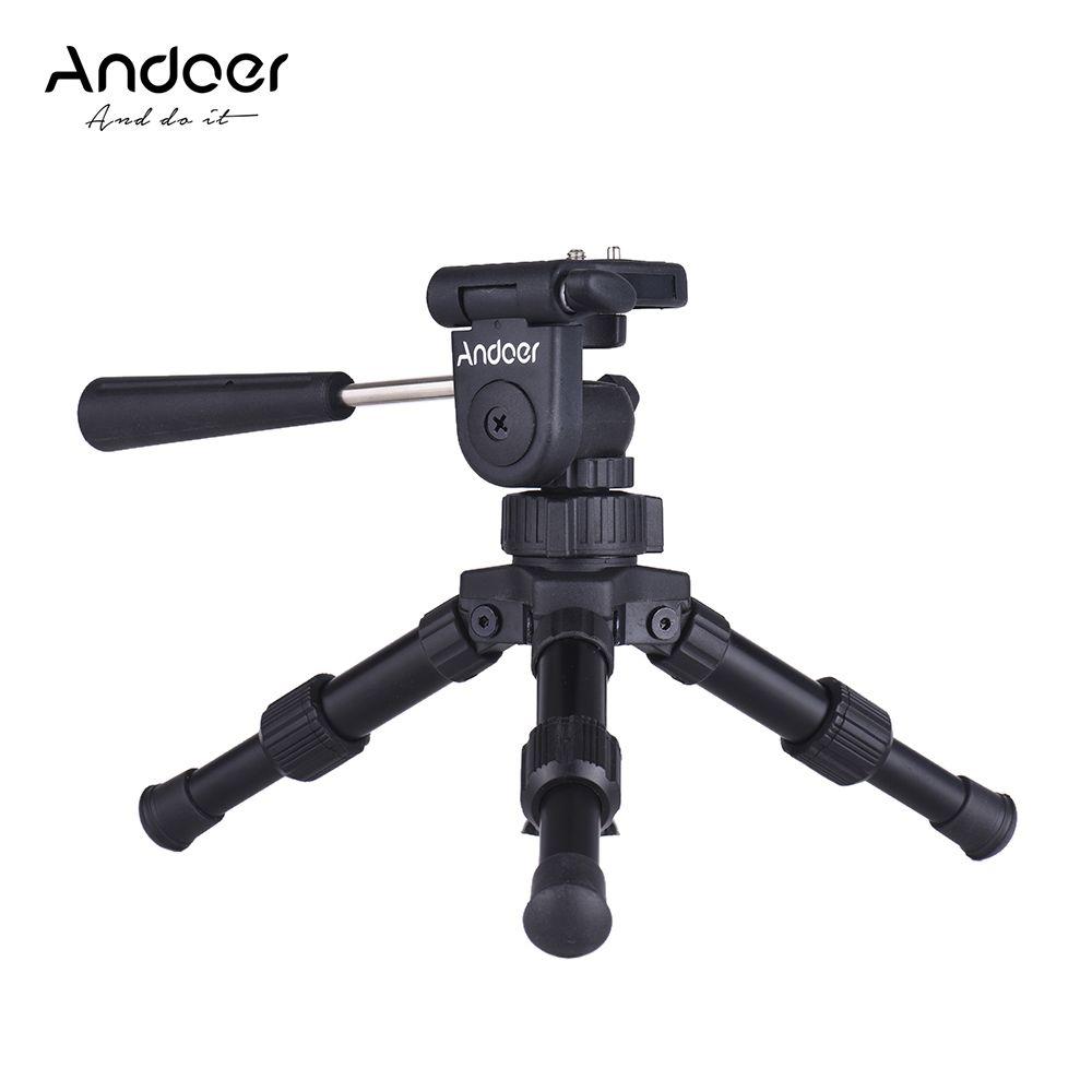 wholesale Portable Lightweight Tabletop Mini Tripod with Pan Tilt Head for Canon Nikon Sony DSLR Camera Mini Tripod Max. Load 4.5kg