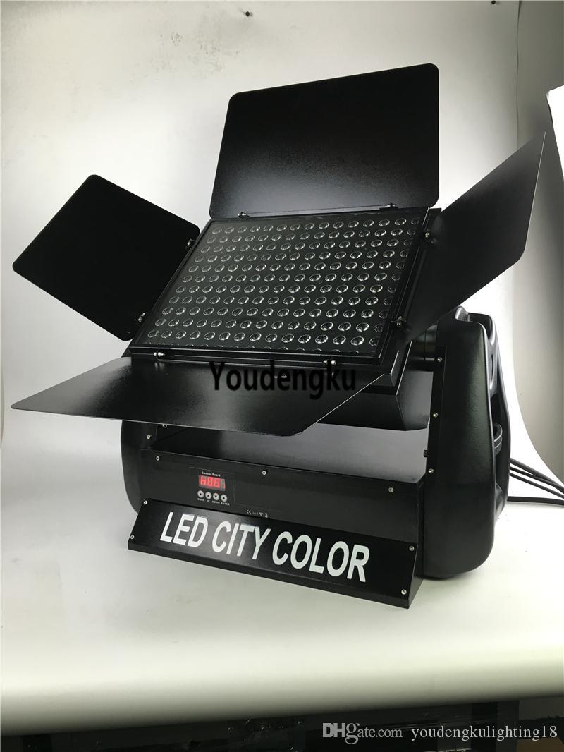 4 шт Водонепроницаемый Светодиодный настенный светильник City Цвет 108 * 3w водить Wallwasher RGB 3в1 на открытом воздухе привели город цвет мыть фары