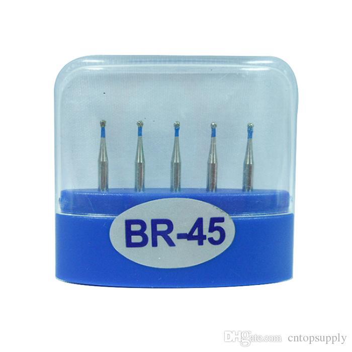 1 paquete (5 piezas) BR-45 Dental Diamond Burs Medium FG 1.6M para pieza de mano de alta velocidad dental Muchos modelos disponibles