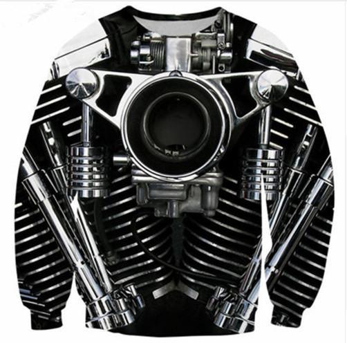 Los más nuevos hombres / mujeres de la motocicleta 3D imprimió la camiseta Summe Style Fashion Casual sudadera S-XXXXXXXL B95