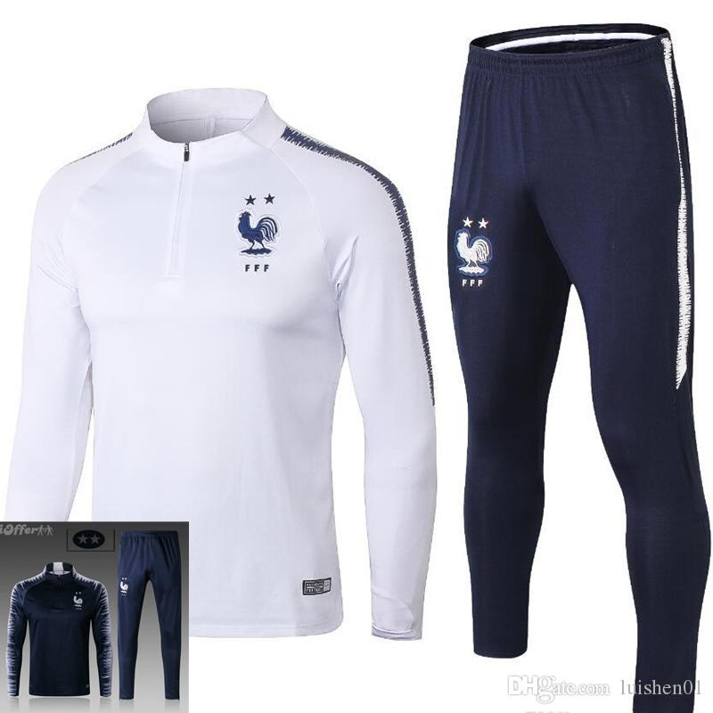 buy sale better best price 2018 2018 2019 2 STAR Survetement Equipe MAILLOT DE FOOT France Paris  SURVETEMENT FOOTBALL Tracksuits Training Suits From Luishen01, &Price;   ...