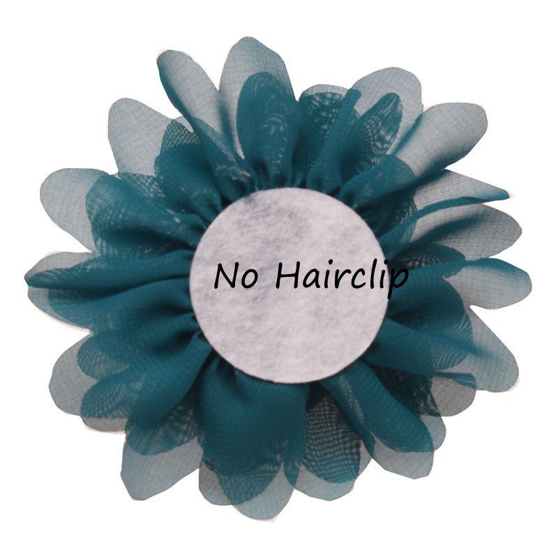 12pcs 핫 세일 쉬폰 Ruffles 꽃 뚱뚱한 머리카락 꽃 10cm DIY 헤어 액세서리에 대 한 저렴 한 꽃 액세서리 No Clips