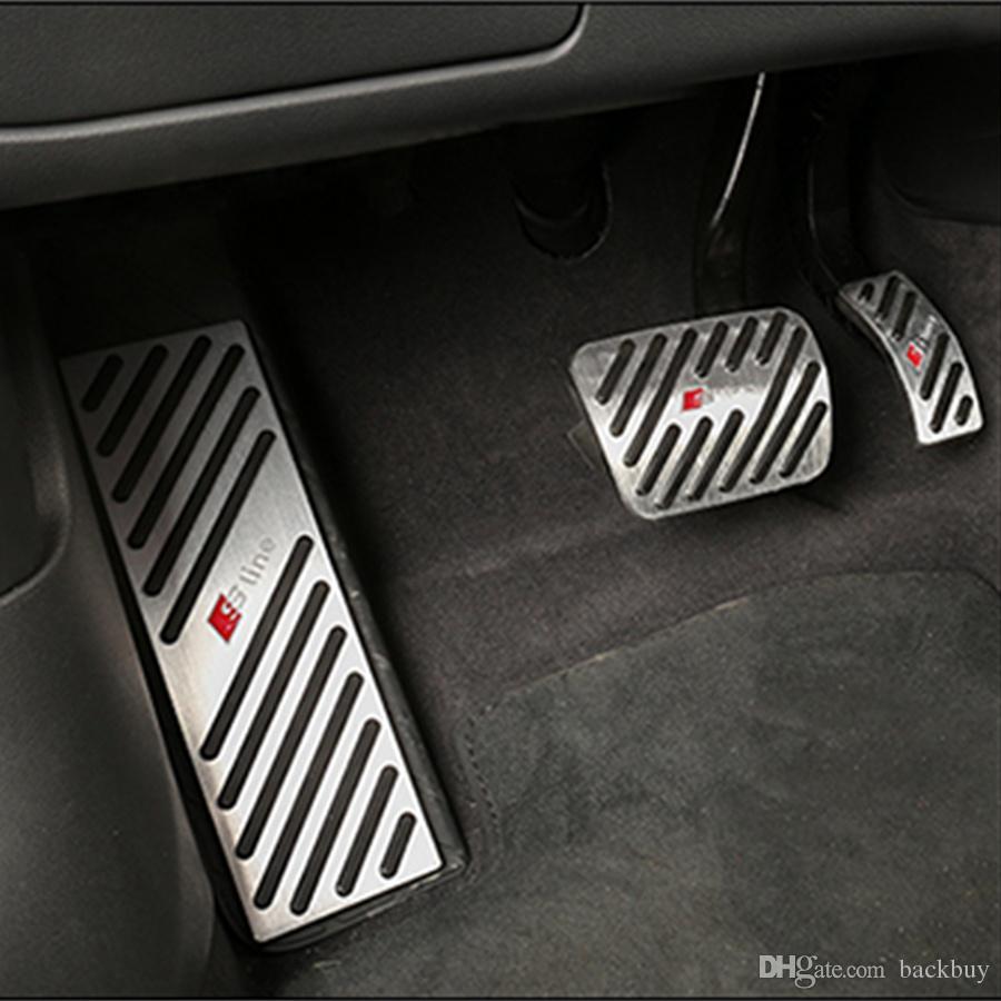 ليغطي عدم الانزلاق أودي A4 A5 A6 A7 A8 Q5 Q7 دواسة القدم وسادة غطاء صالح الغاز الفرامل الراحة الدواسات كيت مسرع الصلب